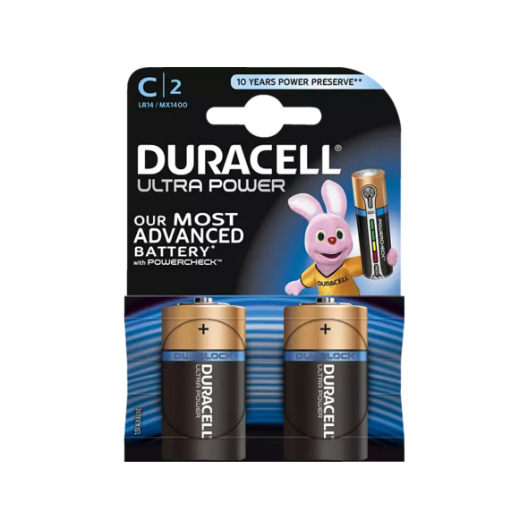 DURACELL Ultra Power  C Batterie, 2 Stück
