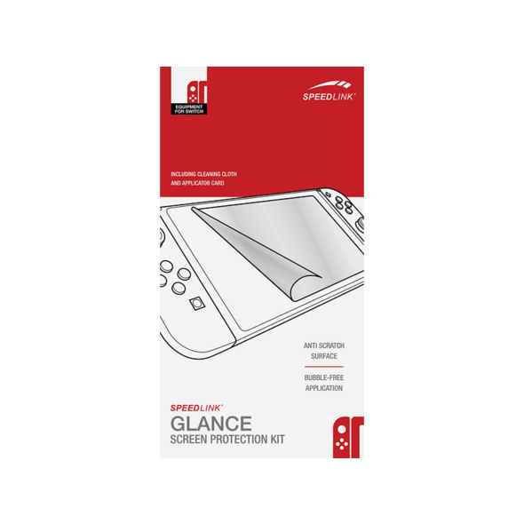 SPEEDLINK Glance Screen Protection Kit Nintendo Switch Schutzfolie, Transparent