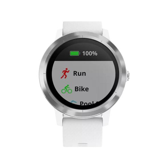 GARMIN vívoactive 3, Smartwatch, Silikon, 127-204 mm, Weiß/Silber