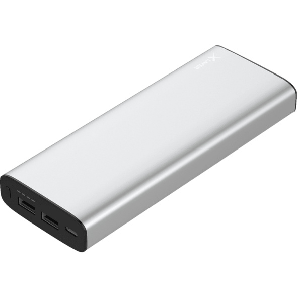 XLAYER Powerbank PLUS MacBook, Powerbank, 20100 mAh, Silber