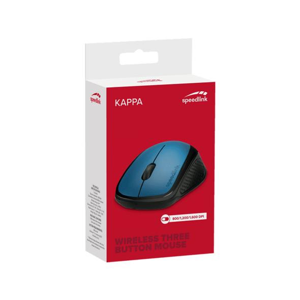 SPEEDLINK SPEEDLINK KAPPA Maus Funkmaus, 2.4 GHz-Funktechnik, Blau