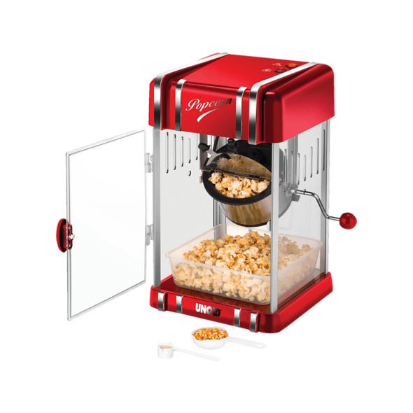 UNOLD Retro 48535, Popcornmaker, Rot/Chrom