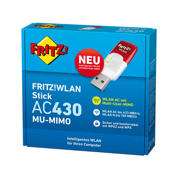 WLAN USB Adapter AVM FRITZ!WLAN Stick AC 430 MU-MIMO