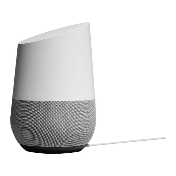 GOOGLE Home, Smart Speaker, Weiß/Schiefer
