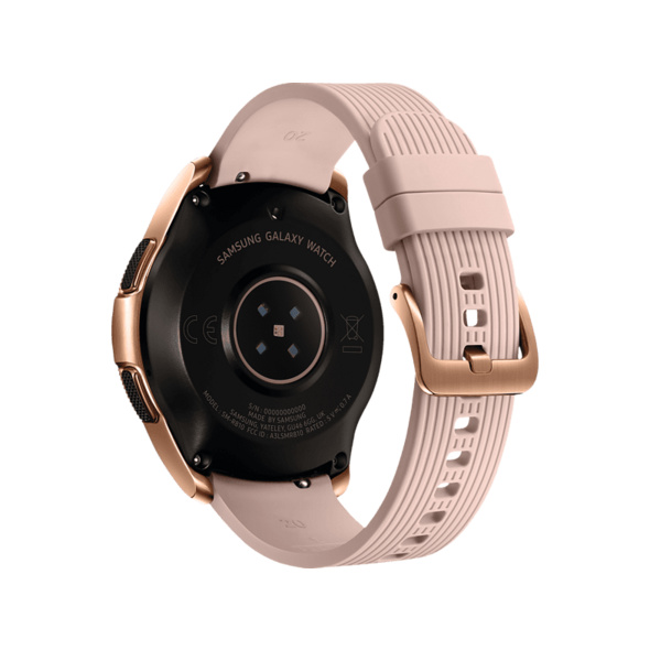 SAMSUNG Galaxy Watch 42mm Bluetooth, Smartwatch, Silikon, S, L, Roségold