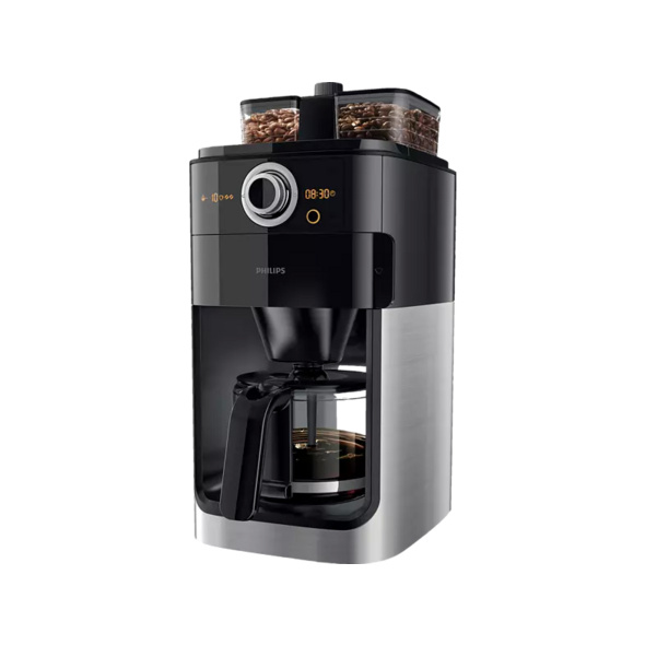 PHILIPS HD7769/00 Grind&Brew, Kaffeemaschine, Schwarz/Metall