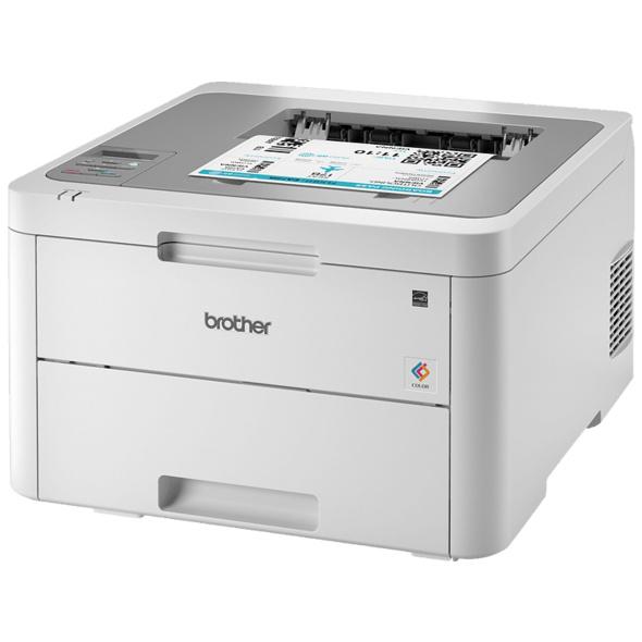 BROTHER HL-L3210CW, Laserdrucker, Weiß