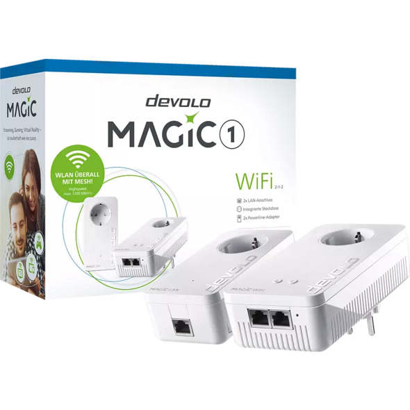 Powerline Adapter DEVOLO 8359 Magic 1 WiFi 2-1-2 Starter Kit Powerline 1200 Mbit/s Kabellos und Kabelgebunden