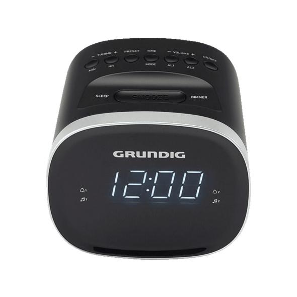 GRUNDIG SONOCLOCK 2500 BT, Radio-Uhr, Schwarz
