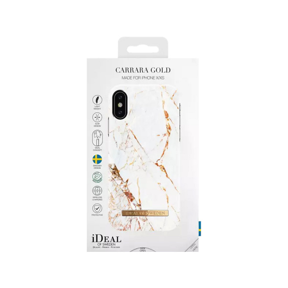 IDEAL OF SWEDEN Fashion Handyhülle, Apple iPhone X, iPhone XS, Carrara Gold