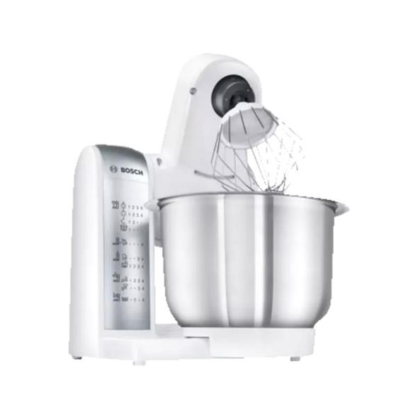 BOSCH MUM48140DE, Küchenmaschine, Rührschüssel-Kapazität: 3.9 l, 600 Watt, Weiß