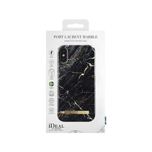 IDEAL OF SWEDEN IDFCA16-IXS-49 FASHION CASE - IP X XS - MARBLE Handyhülle, Apple iPhone X, iPhone XS, Port Laurent Marble