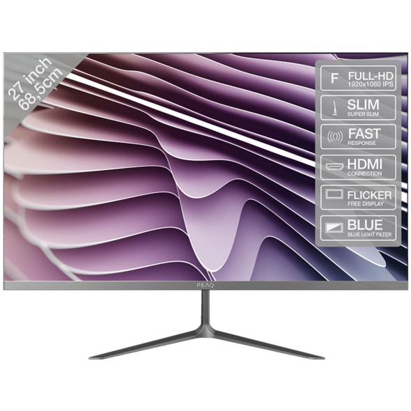 PEAQ PMO Slim S270  Full-HD Monitor (5 ms Reaktionszeit, 60 Hz)