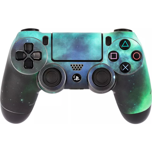 SOFTWARE PYRAMIDE Skins - Sticker für PS4 Controller Skin für PS4 Controller, Galaxy Green