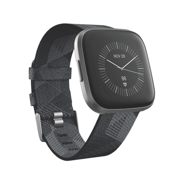 FITBIT Versa 2 (NFC) Special Edition, Smartwatch, Gewebe, S, L, Smoke Woven