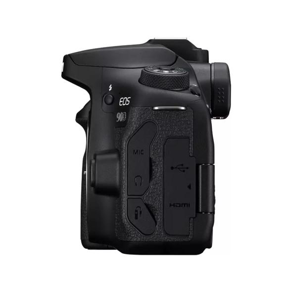 CANON EOS 90D Gehäuse Spiegelreflexkamera, 32.5 Megapixel, 4K, Full-HD, HD, Touchscreen Display, WLAN, Schwarz