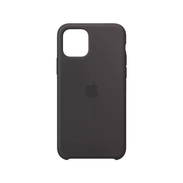 APPLE Silicone Case Handyhülle, Apple iPhone 11 Pro, Schwarz