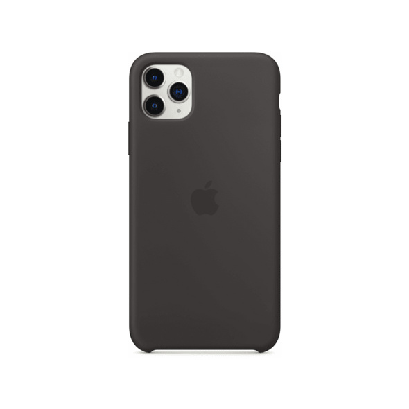 APPLE Silicone Case Handyhülle, Apple iPhone 11 Pro Max, Schwarz