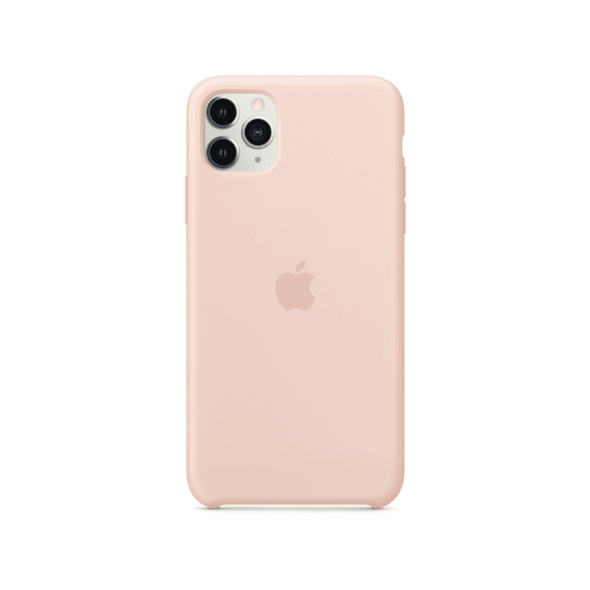 APPLE Silicone Case Handyhülle, Apple iPhone 11 Pro Max, Sandrosa