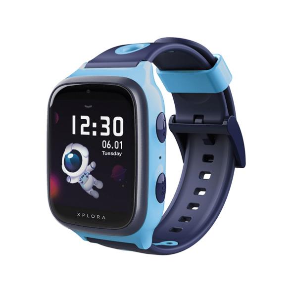 XPLORA X4, Kinder-Smartwatch, Silikon, 145-210 mm, Blau