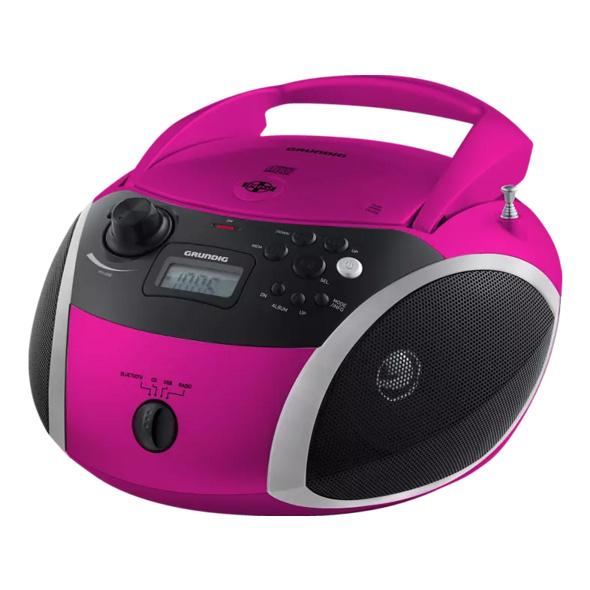 GRUNDIG GRB 3000 BT, Radio, Pink/Silber