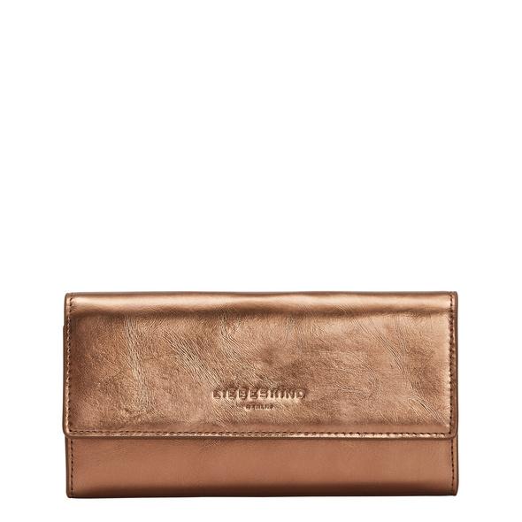 große Brieftasche aus Leder in Metallic - Meryl Metallic Talia