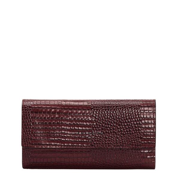 große Brieftasche aus Leder mit Eidechsenprägung - Meryl Talia