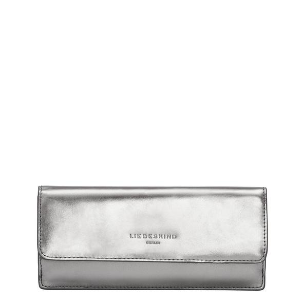 großes Portemonnaie aus Leder in Metallic - Metallic Marina