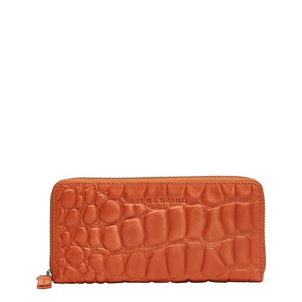 große Brieftasche mit Krokoprägung - Kroko Gigi