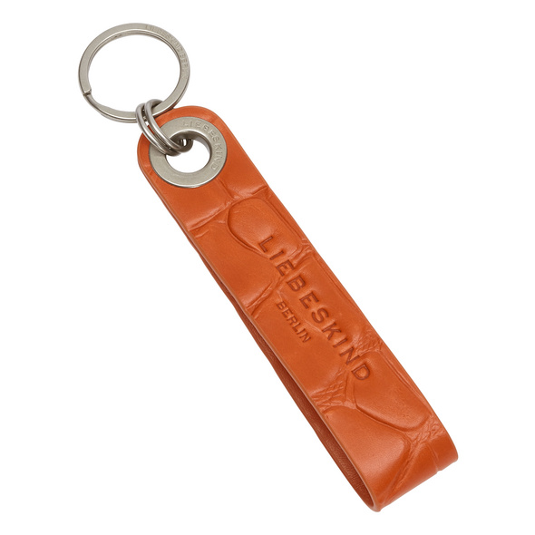 Schlüsselanhänger aus Leder mit hochwertiger Krokoprägung - Kroko Keyring
