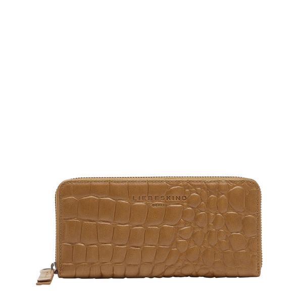 Großes Portemonnaie mit Krokodil-Prägung - Kroko Gigi