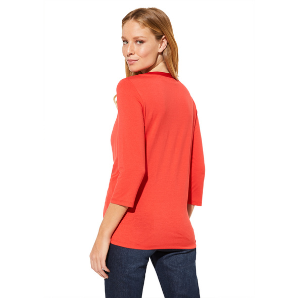Shirt im raffinierten Materialmix - 3/4-Arm Shirt