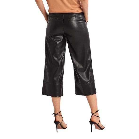 Regular: Hose in Lederoptik - Culotte