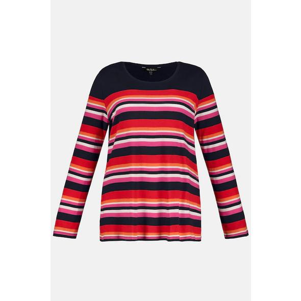 Ulla Popken Shirt, Breton-Ringel, Classic, Rippjersey - Große Größen