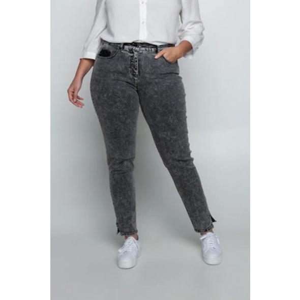 Ulla Popken Jeans Sarah, modische Waschung, schmale Form - Große Größen