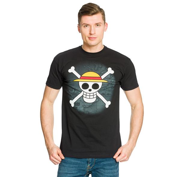 One Piece - Strohhutbande T-Shirt schwarz
