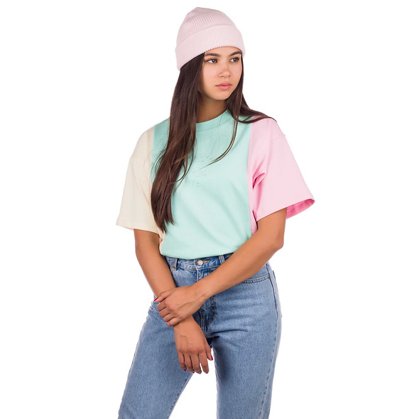 Pastel Colorblock Emb T-Shirt