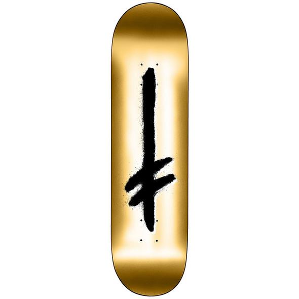 "Credo Logo 8.0 Gold"" Skateboard Deck"