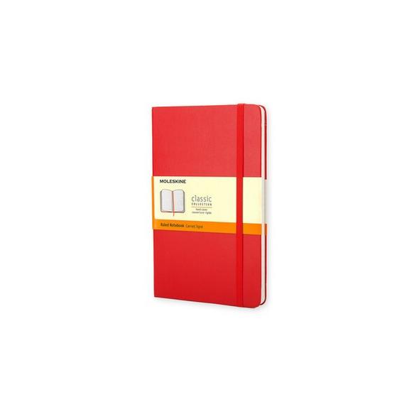 Moleskine Notizbuch, Large/A5, Liniert, Fester Einband, Rot