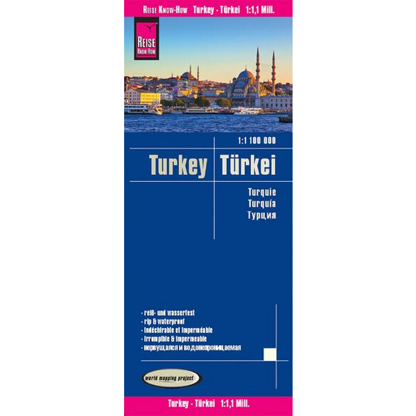 Reise Know-How Landkarte Türkei / Turkey (1:1.100.000)
