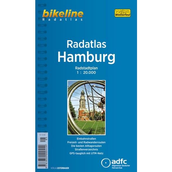 Bikeline Radatlas Hamburg 1 : 20 000