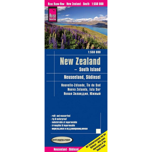 Reise Know-How Landkarte Neuseeland, Südinsel (1:550.000)