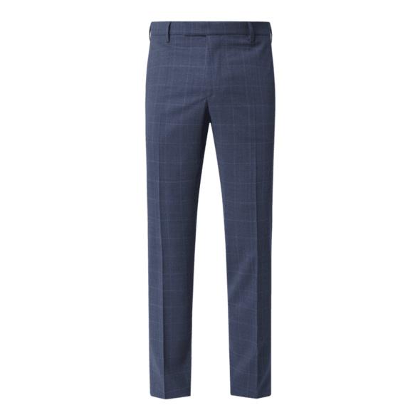 Slim Fit Anzughose mit Gitterkaro Modell 'Dupont'