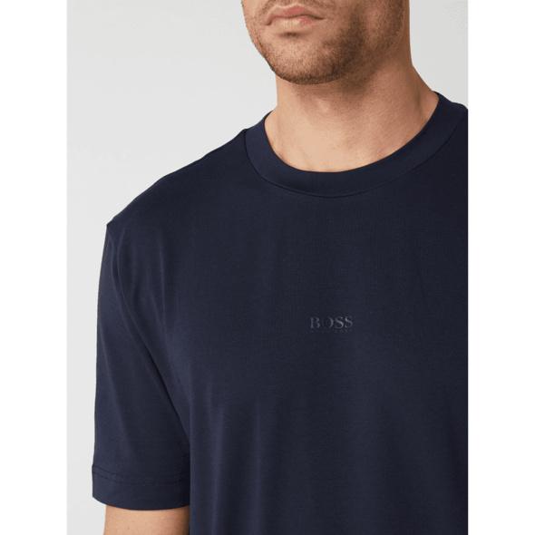 T-Shirt mit gummiertem Logo-Print