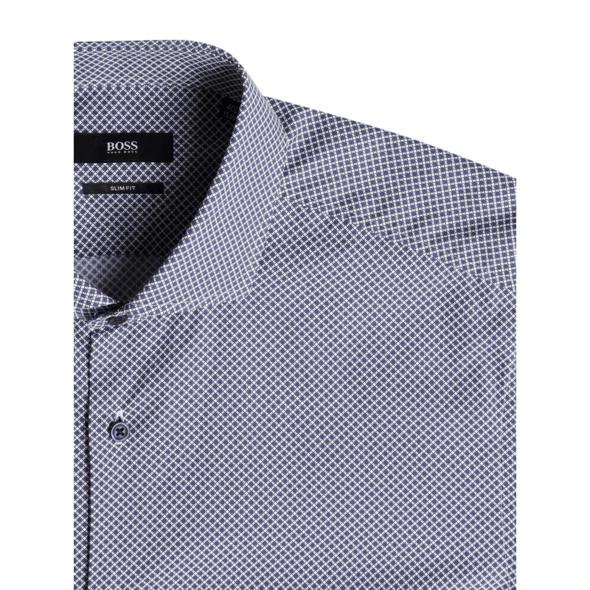 Slim Fit Business-Hemd aus Baumwolle mit extra langem Arm Modell 'Jason'
