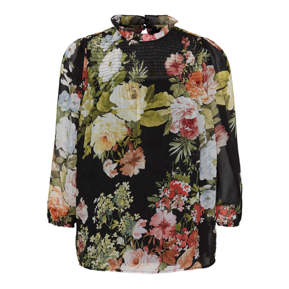 Vero Moda Reguläre Passform  Bluse mit Print