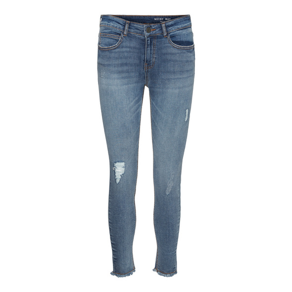 Noisy may Normal Waist Cropped-Jeans in Skinny Fit