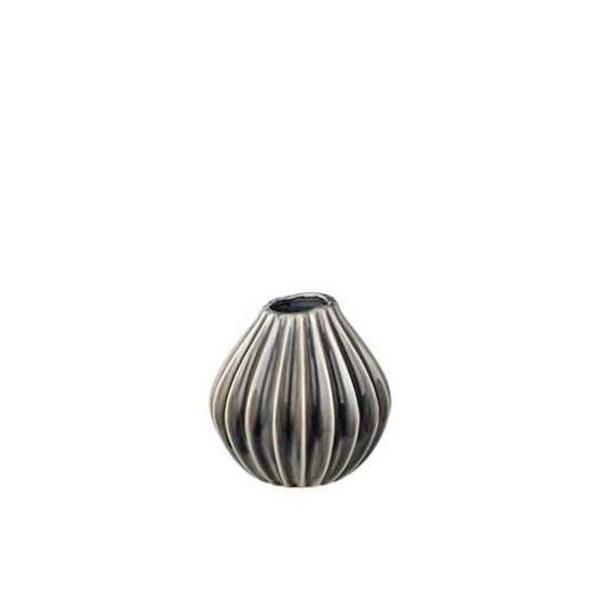 Vase Wide S rauchgrau