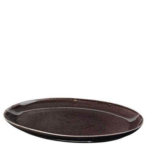 Servierplatte oval Nordic Coal 35,5cm