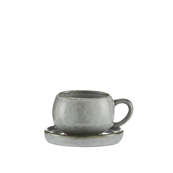 Espressotasse/Untertasse Amera grau